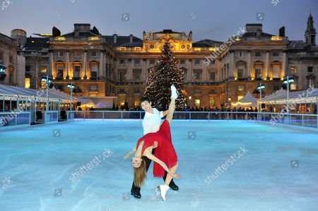 Editorial picture of Somerset House Christmas ice rink opening, London, Britain - 15 Nov 2012