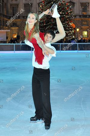 Editorial image of Somerset House Christmas ice rink opening, London, Britain - 15 Nov 2012