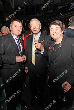 L-r Willie Walsh Ken Livingstone Labour Mayoral Candidate And Val Shawcross. Guests At The London Evening Standard's 1000 Influential's Party. Picture By: Nigel Howard Email: Nigelhowardmediaatgmail.com.