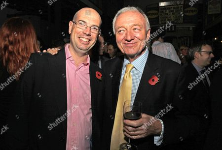 Journalist Andrew Gilligan And Ken Livingstone Labour Mayoral Candidate. Guests At The London Evening Standard's 1000 Influential's Party. Picture By: Nigel Howard Email: Nigelhowardmediaatgmail.com.