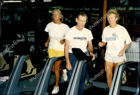 Tennis Player Ann Jones (l) And Pat Cooper (r) Undergoing Test At Edgbasteon Health Clinic Seen On Treadmill Ann Haydon-jones (born Adrianne Shirley Haydon On 7 October 1938 In Kings Heath Birmingham England United Kingdom) Is A Former Table Tennis And Lawn Tennis Champion. She Won A Total Of 7 Grand Slam Championships During Her Career: Three In Singles Three In Women's Doubles And One In Mixed Doubles.