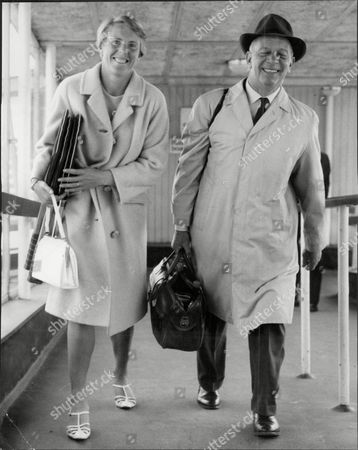Tennis Player Ann Jones With Husband Pip Jones Aka Philip Jones Arriving Back From Moscow Ann Haydon-jones (born Adrianne Shirley Haydon On 7 October 1938 In Kings Heath Birmingham England United Kingdom) Is A Former Table Tennis And Lawn Tennis Champion. She Won A Total Of 7 Grand Slam Championships During Her Career: Three In Singles Three In Women's Doubles And One In Mixed Doubles.