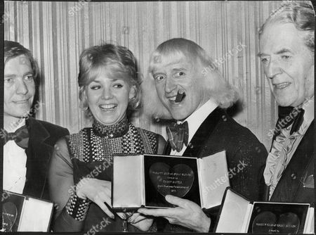 Jimmy Savile At The Variety Club Awards With Actors Jack Warner Tom Courtenay And Cheryl Kennedy.