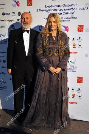 Stock Image of Vladimir Ferkelman and Daryl Hannah