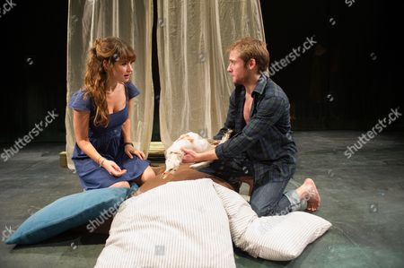 'The Seagull' - Lily James (Nina) and Joseph Drake (Konstantin)
