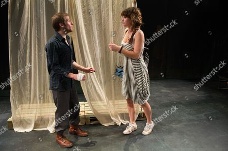 'The Seagull' - Joseph Drake (Konstantin) and Lily James (Nina)