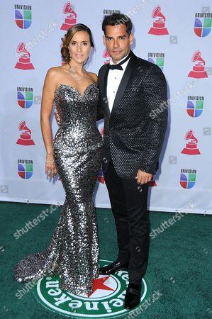 Stock Picture of Cristian de La Fuente wife Angelica Castro