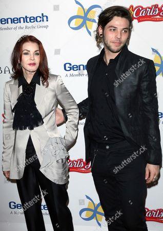 Priscilla Presley and son Navarone Garibaldi