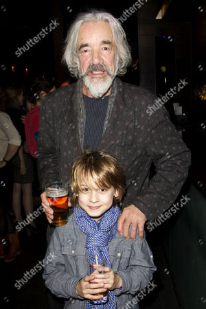 Stock Photo of Roger Lloyd-Pack (Duke of Buckingham/Sir Andrew Aguecheek) and Dylan Standen (Richard, Duke of York)