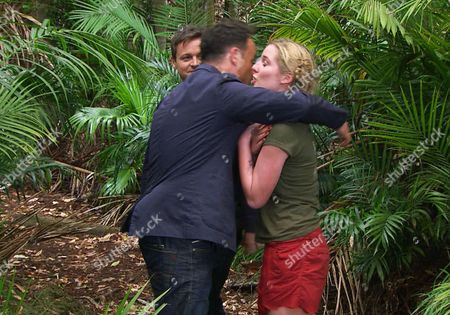 Deadly Deliveries Bushtucker Trial - Anthony McPartlin and Declan Donnelly with Helen Flanagan