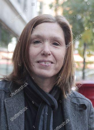 Stock Image of Patty Schemel outside Radio 2