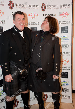 Lewis McLeod and Donald MacLeod - chairman of the Nordoff-Robbins Music Therapy in Scotland