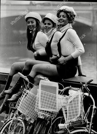 Editorial image of Model's Claire Armitage Jenny Owen-price And Amanda Gordon Toy Fair Messenger Service For Fleet Street.