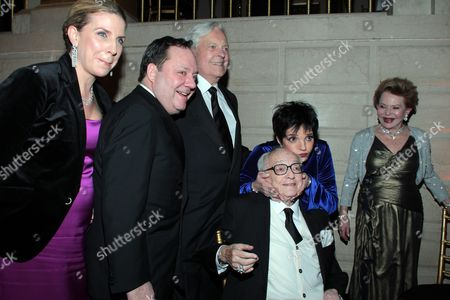 Stock Image of Margo Nederlander, James L Nederlander, Robert Osborne, James M. Nederlander, Liza Minnelli and Charlene Nederlander