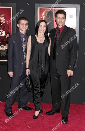 Stock Picture of Ralph Macchio, wife Phyllis Fierro, son Daniel Macchio