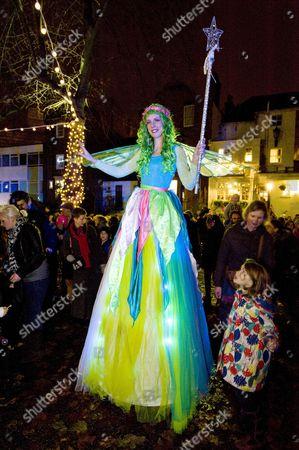 Editorial image of Angie Flint of Real Reindeer Ltd Presents her Reindeer At The Highgate Christmas Village Festival 2012, London, Britain - 17 Nov 2012