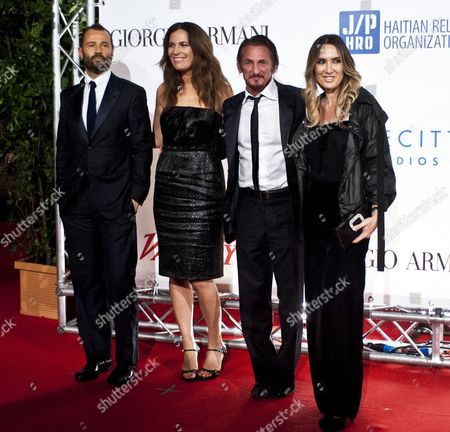 Stock Image of Fabio Volo, Roberta Armani, Sean Penn and Desiree Colapietro