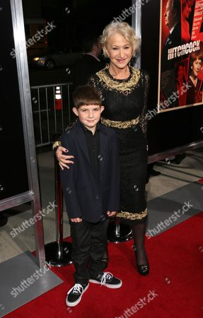 Stock Image of Helen Mirren and her nephew Felix Mirren