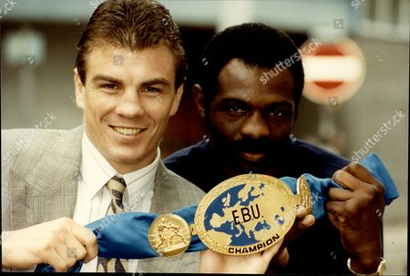 British Boxer Mark Kaylor (left) With Boxer James Cook And The Ebu Belt Mark Kaylor (born 11 May 1961) Is A Former Professional British Boxer. Kaylor Was Born In Canning Town But From The Age Of Nine Was Brought Up In Stanford-le-hope Essex. Kaylor Won The British Schoolboy Title The First Year He Was Eligible To Take Part And At The Age Of 16 Moved Back To Canning Town To Live With His Grandmother So That He Could Join A Bigger Boxing Club At West Ham. In 1979 At The Age Of 17 Kaylor Won The National Association Of Boys Clubs Championships And The London Senior Title. In 1980 Kaylor Won The British Amateur Boxing Association Championships And Went To The European Junior Championships In Rimini Italy. Kaylor Represented Great Britain In The 1980 Moscow Olympics Losing On A Split Decision In The Quarter-finals. Perhaps His Most Famous Fight Came In 1985 When He Defeated Errol Christie In The Eighth Round Of A Hard-fought Match Marred With Controversy Due To A Pre-fight Punch-up Between The Pair And By Death Threats From Racist Fans Against Christie. Despite The Controversy Kaylor And Christie In Fact Showed Great Respect For Each Other After The Match. Kaylor Later Commented 'back Then I Had A Quick Temper That Iad Rather Not Have Had. There Was Always This Spark In My Head! Today Iam Embarrassed By It. Errol Was A Nice Guy. Thereas No Way I Could Behave Like That Now.' Kaylor Had A Role In A 1991 Film Entitled Real Money Directed By Ron Peck And Starring Jimmy Tibbs Jimmy Flint Steve Roberts And Jason Rowland. In 1999 Kaylor Moved To California With His American Wife Patricia And Their Sons Ryan And Jimmy. He Now Coaches Boxing And Is An Aerobics Instructor At A Gym In Chino.