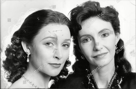 Editorial photo of Actresses Cherie Lunghi And Mary Steenbergen.