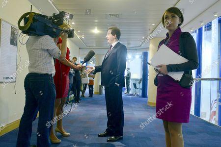 Chancellor George Osborne and Poppy Mitchell-Rose