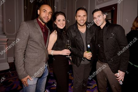 Stock Image of Alex Beresford, Daniel Wootton and guests