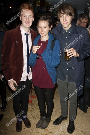 Will Merrick, Lydia Wilson and Alex Arnold