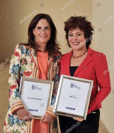 Stock Image of Jill Shaw Ruddock and Ruby Wax with their Jewish Care Women of Distinction Awards.