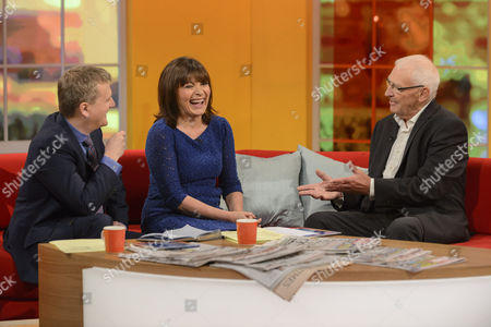 Aled Jones and Lorraine Kelly with Norman Baker