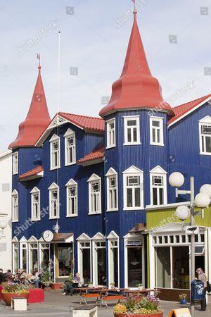 A cafe in Akureyri, Northern Iceland.
