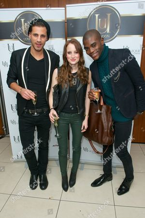 Matthew Holbrook, Rosie Fortescue and Anthony BB Kaye