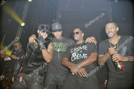 Red Cafe, Guest, Sean Combs and King Los