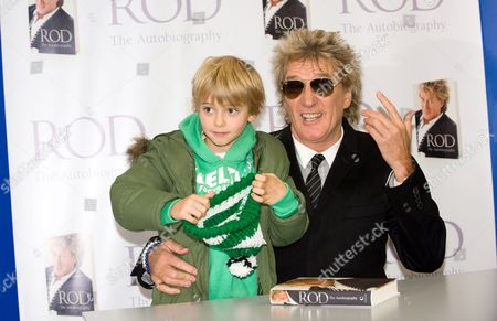 Stock Image of Rod Stewart with his son Alastair Wallace Stewart