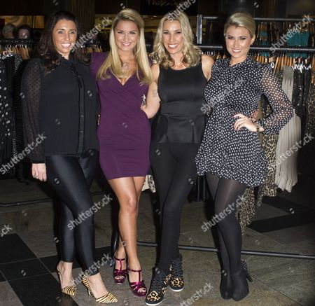 Editorial picture of 'The Only Way is Essex' Stars at their Pop Up Boutique Minnies, Southampton, Britain - 24 Nov 2012