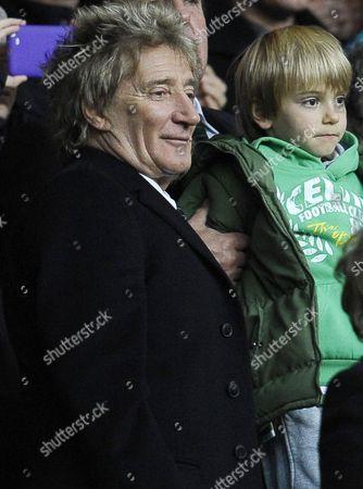 Rod Stewart with his son Alastair Wallace Stewart