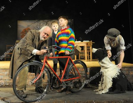 Stock Picture of Oliver Ford-Davies as Tom, Ewan Harris as William, William Price as Zach, Elisa De Grey as Puppeteer