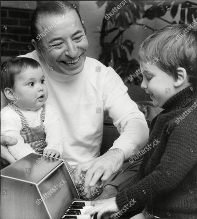 Musician And Band Leader Joe Loss With Grandchildren Paul (3) And Andrew (8months) Joshua Alexander 'joe' Loss Lvo Obe (22 June 1909 A 6 June 1990) Was A British Musician Popular During The British Dance Band Era And Was Founder Of The Joe Loss Orchestra.