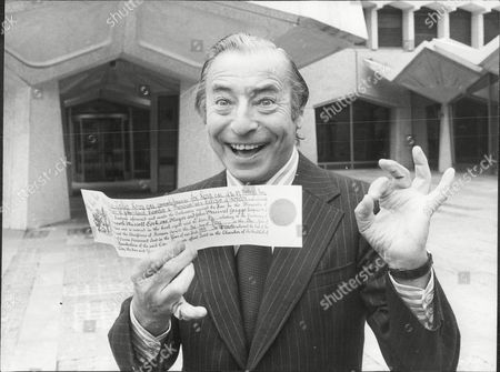 Stock Photo of Musician And Band Leader Joe Loss Receives Freedom Of The City Of London Joshua Alexander 'joe' Loss Lvo Obe (22 June 1909 A 6 June 1990) Was A British Musician Popular During The British Dance Band Era And Was Founder Of The Joe Loss Orchestra.