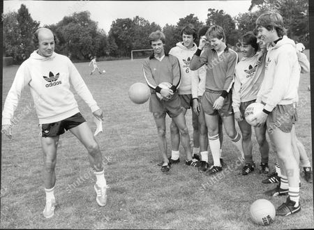 Editorial picture of Terry Mancini Former Footballer Here Training Schoolboys 1979.