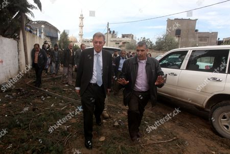 Editorial picture of Robert H. Serry, the United Nations special coordinator for the Middle East Peace Process, visits the Gaza Strip - 24 Nov 2012