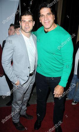Stock Image of Louis Ferrigno Jr. and Lou Ferrigno