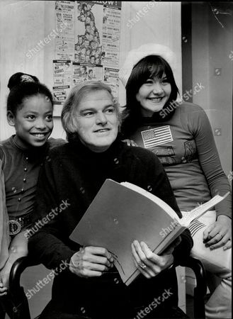 Keith Michell Seen With Dancers Viviene Mckone (9) And Linda Furzer (10).