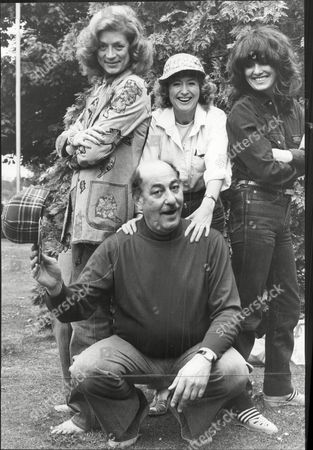 Alfred Marks With Fellow Actors Jill Melford Helen Cotterill And Lois Daine Publicising Play How The Other Half Loves 1978.