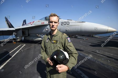 F-18 Super Hornet Pilot Stephen Collins with call sign Lothar (Loser of the American Revolution) and Royal Navy Pilot on secondment to the US Navy