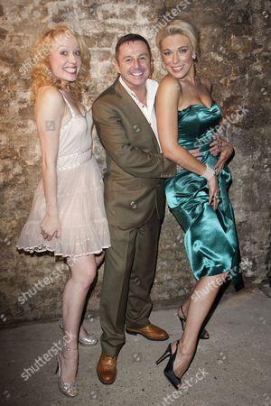 Holly Dale Spencer (Lois Lane/Bianca), Stephen Mear (Choreographer) and Hannah Waddingham (Villi Vanessi/Katherine Minola)