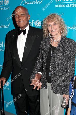 Harry Belafonte with wife Pamela Frank