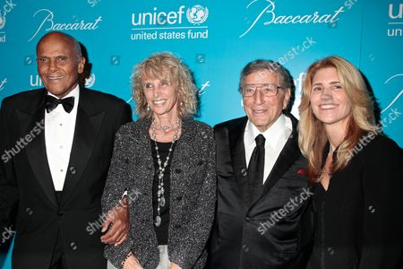 Harry Belafonte, Pamela Frank, Tony Bennett and Susan Crow