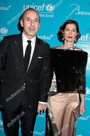 Stock Image of Matt Lauer with wife Annette Roque