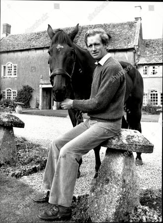Show Jumper Richard Meade With His Horse Kilcashel At Home Near Chipenham.
