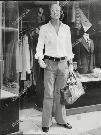 Terry Mancini Of Queens Park Rangers Fc Outside Clothes Shop 1973.